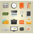 Set of various financial service items vector image vector image