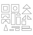 simple line style blocks toy details for coloring vector image vector image
