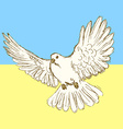 Sketch peace dove for Ukrainian war vector image vector image