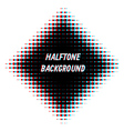 Square overlayed halftone background vector image