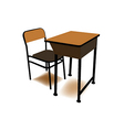 Student chair used in the classroom with the stand vector image