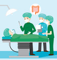 surgeon operate on appendicitis patient vector image vector image