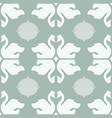 swan shapes with ovals on pastel green vector image vector image