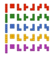 Tetris Bricks Pieces Total Set for Game vector image vector image