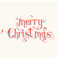 Vintage Christmas Calligraphy Card vector image vector image