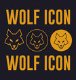 wolf head flat icon vector image