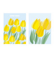 yellow decorative tulip floral postcard template vector image
