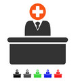 medical bureaucrat flat icon vector image