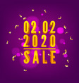 0202 2020 shopping day sale poster vector image vector image