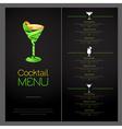 3D cocktail design Cocktail Menu design vector image vector image