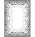 Abstract silver frame vector image vector image