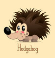 adorable hedgehog in modern flat style vector image vector image