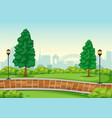 an urban peak background vector image vector image