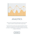 analytics web page and text vector image vector image