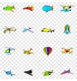 Aviation set icons vector image vector image