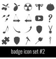 badge icon set 2 gray icons on white background vector image