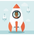 Black guy in On- line business start up vector image
