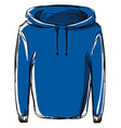 blue jacket on white background vector image vector image
