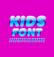 bright glossy kids font with modern font vector image