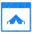 Camping Calendar Page Grainy Texture Icon vector image vector image
