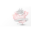 china map with chinese dragon vector image vector image