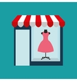 clothes woman buys gifts vector image