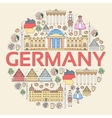 Country Germany travel vacation guide of goods vector image vector image