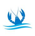 crayfish logo river lobster langoustine vector image vector image