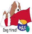 Dog Tired vector image vector image