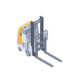 electric forklift isometric vector image