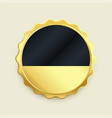empty golden badge label premium button vector image vector image