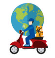 express delivery cartoon vector image