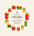 festive happy new year poster vector image vector image