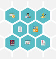 flat icons algebra net income duty and other vector image vector image