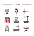 flat icons of scales vector image