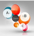 glass circles banner vector image vector image
