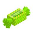green bonbon icon isometric style vector image vector image