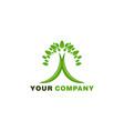 green leaf healthy logo vector image vector image