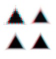 Halftone triangle design elements vector image vector image