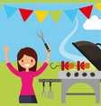 happy people picnic vector image vector image