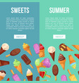 ice cream summer cafe flyers set vector image vector image