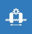 icon gears and wheels vector image vector image