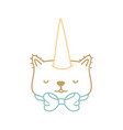 isolated cat design vector image vector image