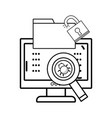 isolated security system design vector image