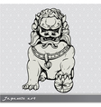 Japanese foo lion vector image