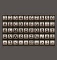 letter wheel font code padlock symbols vector image vector image