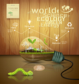 Light bulb ecology concept design vector image vector image