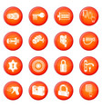 lock door types icons set red vector image