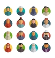 Middle eastern people flat icons set Muslim male vector image vector image