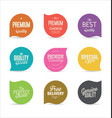 modern badges and labels collection 3 vector image vector image